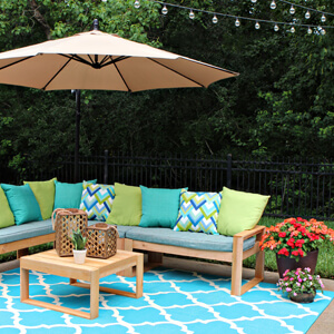 Tour Gray House Studio's Colorful Back Patio