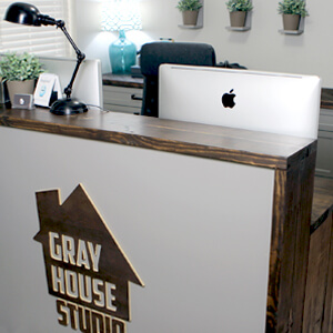 Tour Gray House Studio's Industrial Home Office