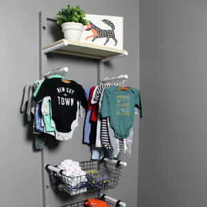 DIY Home Renovation Blog - Baby Clothes Rack