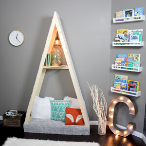 DIY Home Renovation Blog - Kid's Reading Nook Tent Project