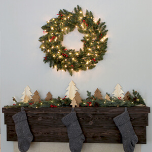 DIY Home Renovation Blog - Rustic Christmas Mantel