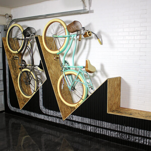 Wall-Mounted Bike Rack with Bench DIY Project Video