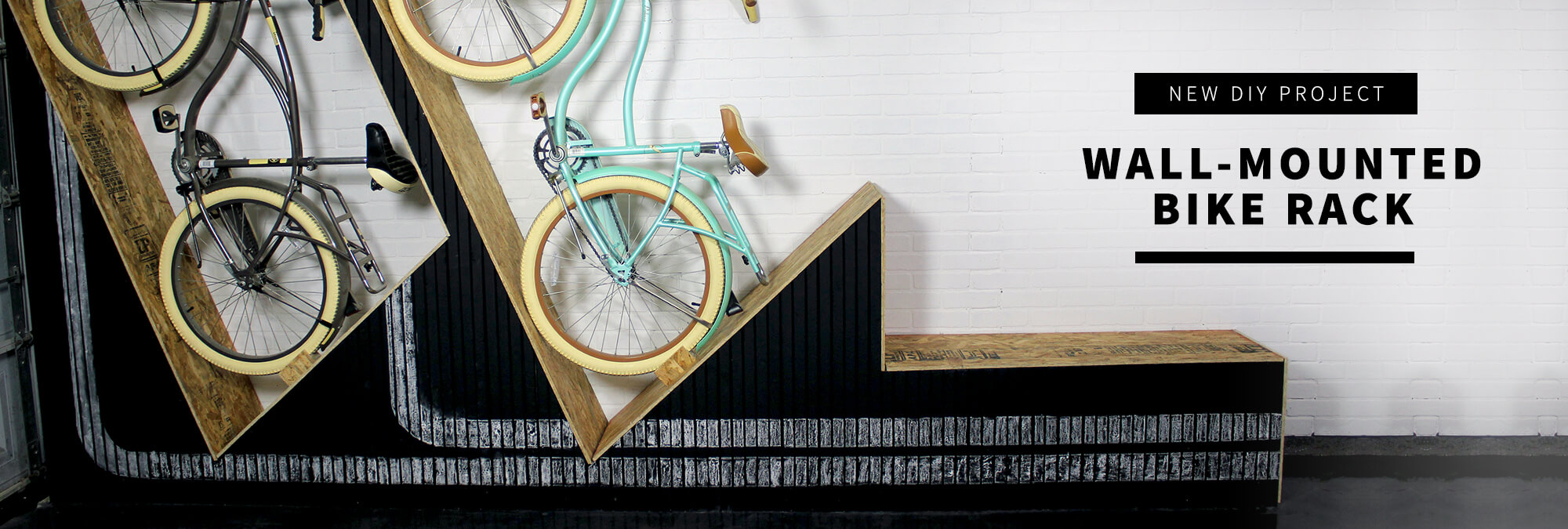 New DIY Project - Wall Mounted Bike Rack