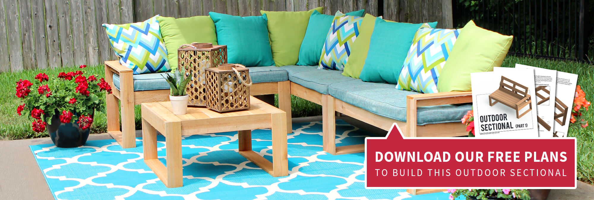 Free DIY Outdoor Sectional Plans