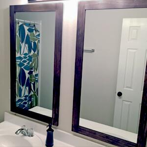 How To Frame Bathroom Mirrors Gray House Studio