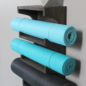 Custom decor wall mount shelf yoga mat storage Chalkboard Yoga Mat Holder