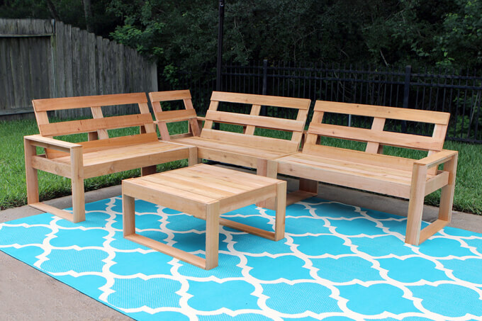 Diy Outdoor Sectional Gray House Studio, Build Patio Furniture Plans