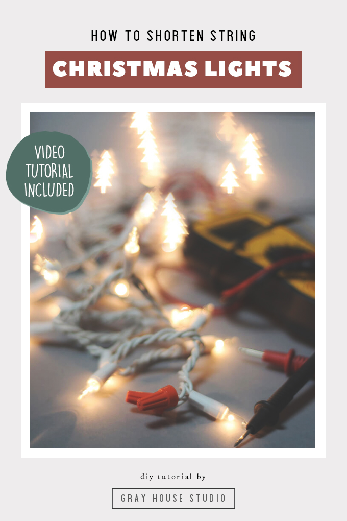 How To Shorten String Christmas Lights Manual Guide